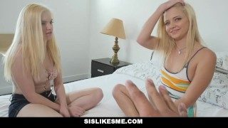 Sislovesme – Teen Sisters Fight Over Step Brothers Dick